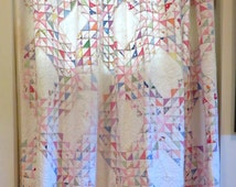 Pair Antique Handsewn Quilts/Curtains