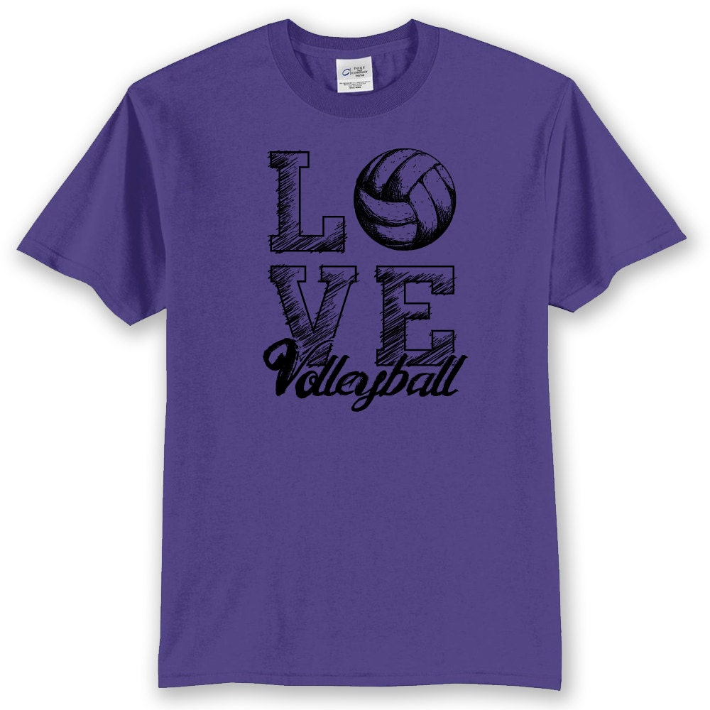 Love volleyball t shirt volleyball shirt for Volleyball custom t shirts