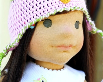 "Doll is ready to be sent - Waldorf doll 17"" inches, ""Patricia""   - A gift for birthday - girl"