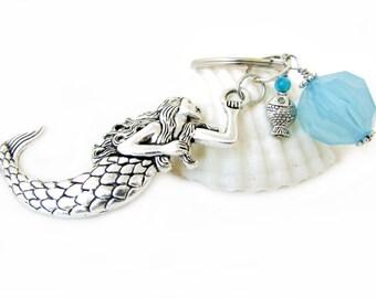 Mermaid Keychain, Mermaid Key Chain, Mermaid Accessories, Car Accessories, Fish Keychain, Beach Accessory, Mermaid Gift
