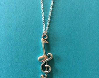 Music Jewelry - Music Necklace - Musical Jewelry - Muscial Jewelry - Bass Clef Necklace - Treble Clef Necklace - Music Note Necklace - Music