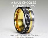 BIOSHOCK Inspired , Striking Mens 10MM Tungsten Wedding Ring