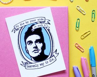 Morrissey, The Smiths, mini A6 postcard print