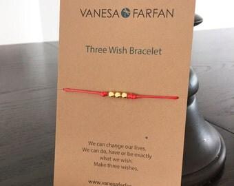 BEST SELLER / Friendship Bracelet, Make a Wish Bracelet, Three Wishes, Adjustable, 16 Colors