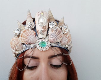 Mermaid Crown LARGE: From the Sea to the Moon