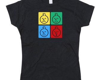 Ladies Ashens Colour Onion Squares Tshirt