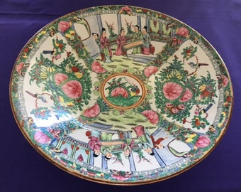 Vintage,  Hand Painted & Decorated, LARGE , JAPANESE BOWL.