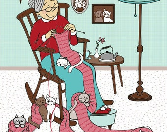 cats and granny!