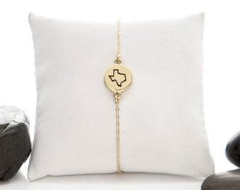 Texas, Texas Jewelry, Texas Charm, State Jewelry, Texas State, Texas Bracelet, Lone Star State, State, State of Texas, I Love Texas, b246mB