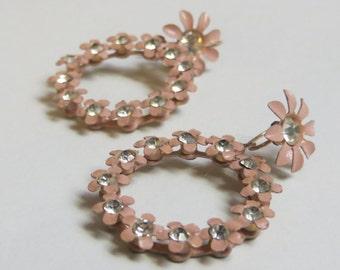 Pretty in Pink Vintage Earrings