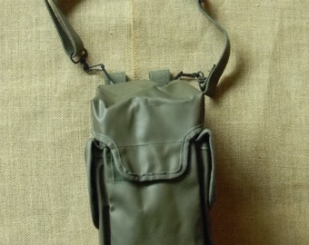 Waterproof Vintage Olive Military Messenger Shoulder Bag Bicycle Pannier Combo - Vintage Military Surplus - Adjustable Strap - 3 Pockets