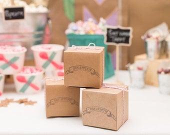 100 Kraft Gift Boxes with lids - 4x4x4 - bulk boxes