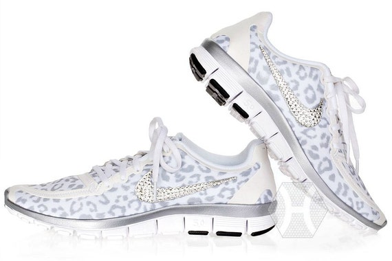 dc26a1cccd202 durable service Women's Nike Free 5.0 v4 White Wolf Cheetah by  ShopBlingedOutKicks