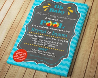 pool party invitation templates word