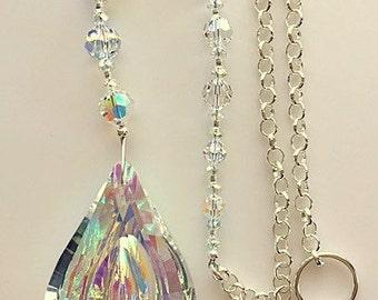 Large Crystal Suncatchers, Swarovski Crystal Sun Catchers, Crystal Prism, Prism Suncatcher