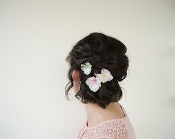 Silk Flower Hair Clip | Hair Pins for Wedding | Floral Hair Pins Wedding Hair Piece | Flower Hair Pin Set of 3