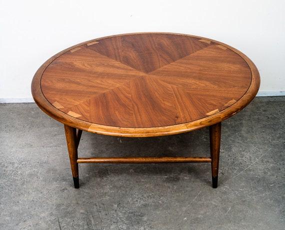Mid century modern Coffee Table Round Circular Lane Acclaim