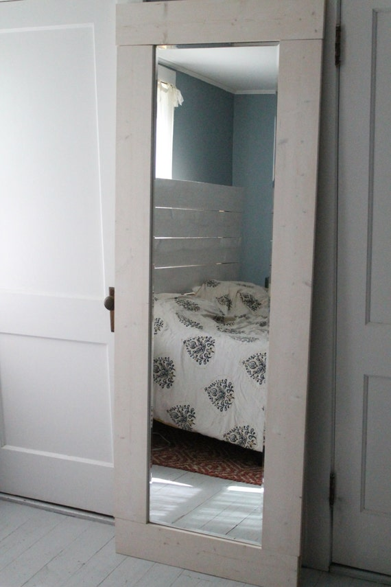 oversize full length mirror with barnwood frame ships. Black Bedroom Furniture Sets. Home Design Ideas