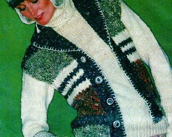 Tweed Vest Vintage Knitting Pattern Download