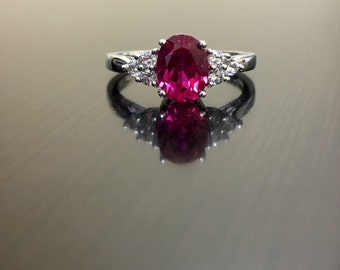 Art Deco Ruby Engagement Ring