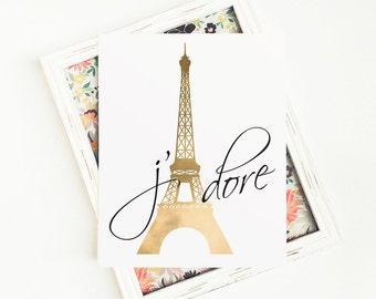 Paris Bedroom Decor, Paris Print, Paris Wall Art, Paris Poster, Eiffel Tower Print, Eiffel Tower Decor, 8x10 PRINTABLE Art, Digital Download