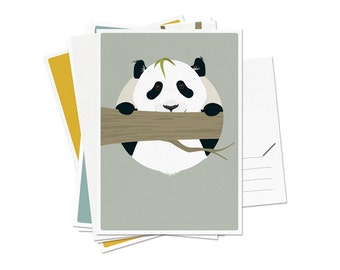 """Postcards - Set of 6 different animals / A6 - 4.13 x 5.83"""""""
