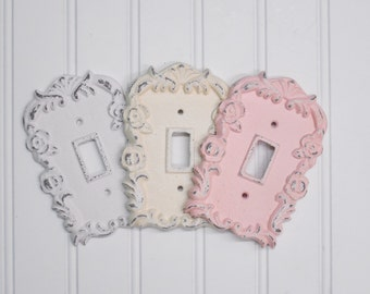 Light Switch Plate-24 Color/Shabby Chic/Light Switch Cover/Switchplates/Switch Plate/Vintage Light Switch/The Shabby Store/Nursery