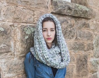 Infinity Cowl Scarf // Vegan Infinity Scarf // Oversize Loop Scarf // THE MADELEINE shown in Watercolors