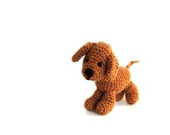 crochet VIZSLA dog, miniature vizsla puppy, mini dog figurine, collectible doggie, amigurumi pet, stuffed dog doll, tiny dog soft, dog lover