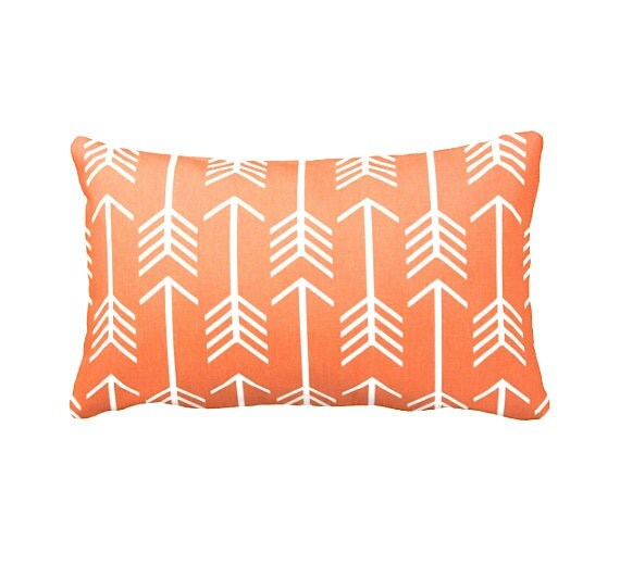 Dimensions Of Throw Pillow : 7 Sizes Available: Orange Pillows Orange Throw Pillows Orange