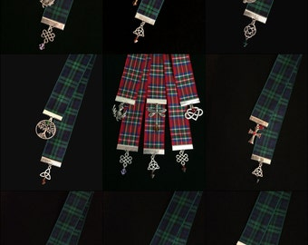 Outlander Inspired Tartan (Plaid) Ribbon Bookmarks Themed for All Nine Books (Yes that includes the yet to be released Book 9)