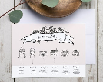 Bridesmaid itinerary etsy printable wedding timeline template wedding itinerary timeline printable wedding timeline for bridal party pronofoot35fo Image collections