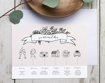 wedding day timeline template bilder