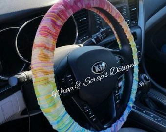 Wrap Scrap Steering Wheel Cover - Custom from Instock Fabric - Babywearing Wrap Scrap Accessories