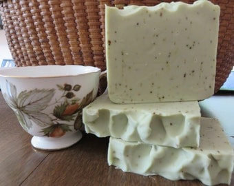 Green Tea Soap, All Natural Soap, Handmade Soap, Bath Soap, Hand Soap, Homemade Soap, Handcrafted Soap, New Hampshire Soap, Gifts For Her