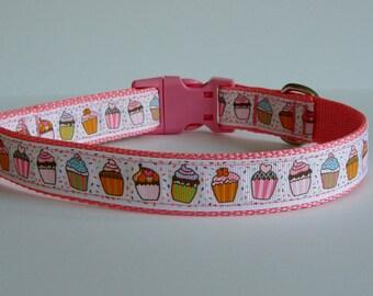 Cupcake Birthday Party Dog Collar