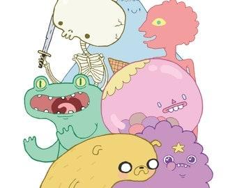 Adventure Time - 5x7 Art Print