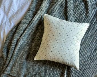 White & Black Polka DotCushion Cover, Throw Pillow Cover, Throw Cushion Cover, Decorative Cushion Cover, Decorative Pillow Cover