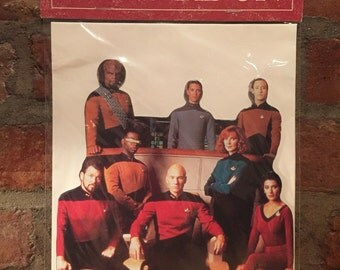 Vintage Star Trek: The Next Generation Stand-Me-Up Greeting Card