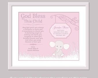Christian Baby Gift - Girl Baptism Gift - Personalized Christening Gift - Naming Day Gift - Nursery Art Baby Baptism Gift Baptism Gift Girl