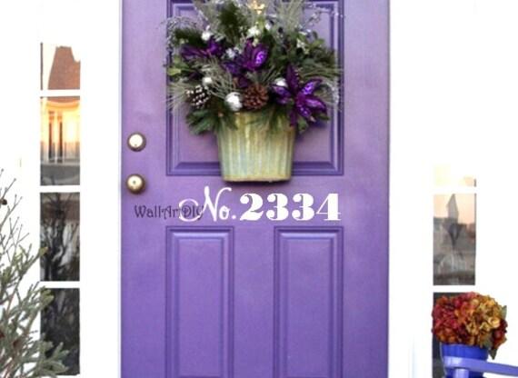 Porte d 39 entr e num ro sticker rue num ro maison adresse for Stickers porte d entree