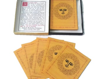 Ex Libris Golden Sun 49 Gummed Bookplates by Antioch Boxed Set Matte Finish