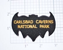 Carlsbad Caverns National Park - Iron-On Vintage Travel Patch - New Mexico - Bat Patch - Rare *Only 1 in Stock* Free Shipping e18b