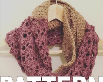 Crocheted Two-Tone Infinity Scarf Pattern