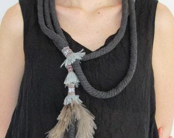FREE SHIPPING / Boho Necklace / Hippie Style /  Handmade Necklace / Gift Idea by FabraModaStudio / A916