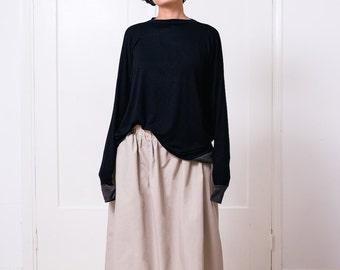 Women's long sleeve, oversized box t shirt, black long sleeve, oversized t, women's t shirt, box long sleeve