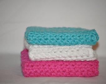 Dishcloth - Crochet Dishcloth - Washcloths - Baby Washcloths - Cotton Dishcloths - Cotton Washcloths - Baby Shower Gift Idea - Dishcloths
