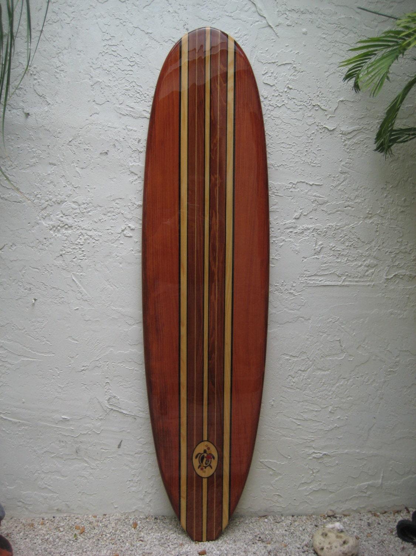 Decorative Wooden Surfboard Wall Art for a Hotel Restaurant