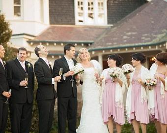Infinity Convertible Long Bridesmaid Dress CUSTOM SIZES hundreds of fabrics handmade in the USA rosegold blush pink rose rosewater lavender