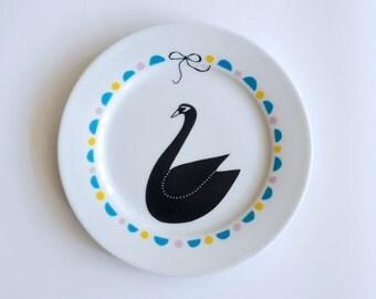 SUMMER SALE! Swan plate #4
